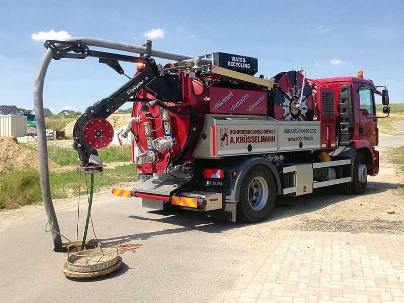 Pumpenwagen im Einsatz