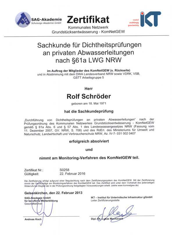 SAG-Kanalinspektion-Zertifikat