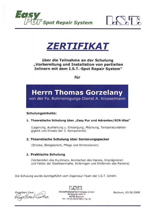 I.S.T.-Zertifikat