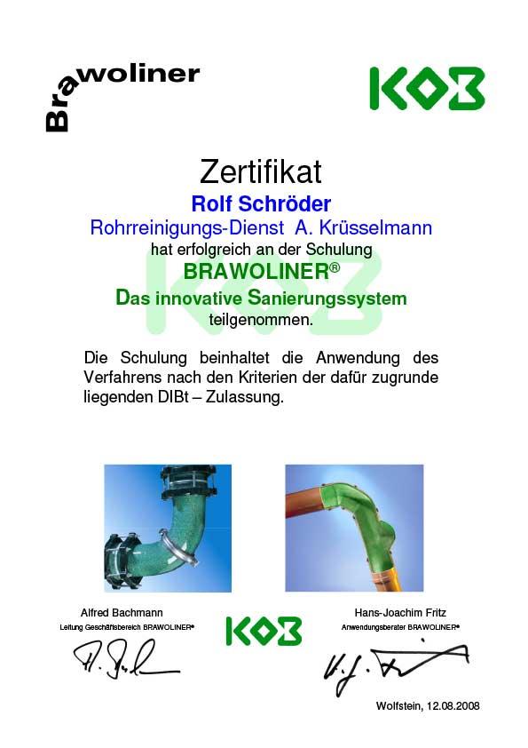 Brawoliner-Zertifikat