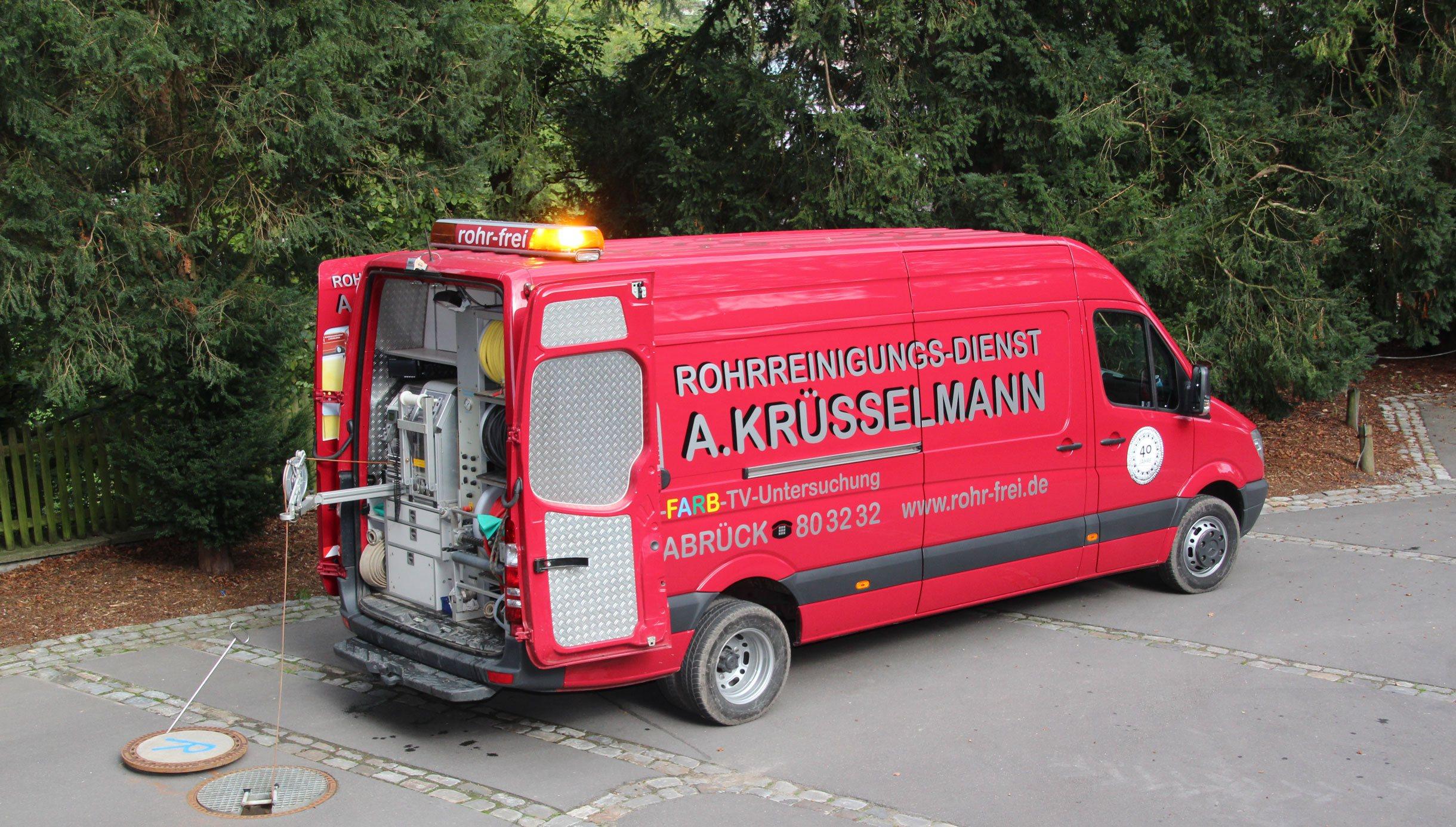 Sprinter vom Rohrreiningungs-dienst A. Krüsselmann