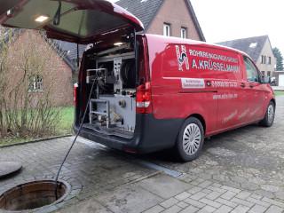 Einsatz des technischen Equipments zur Rohrreinigung vom Rohrreinigungsdienst Krüsselmann