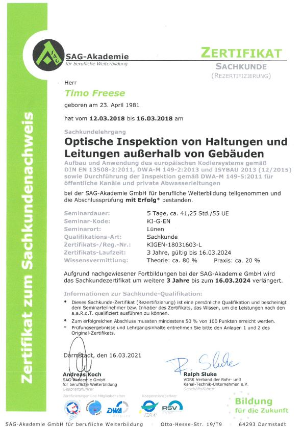 SAG-Dichtheitsprüfung-Zertifikat